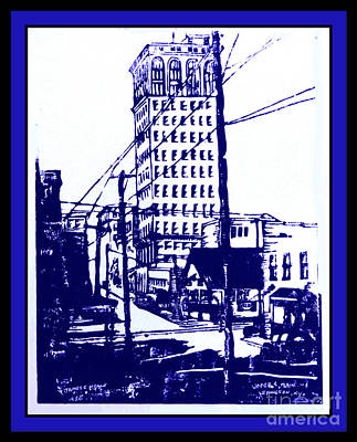 Lexington Drawing - Kentucky Blue by David Neace