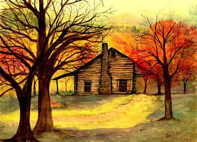 Kentucky Cabin Print by Gail Kirtz