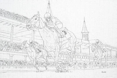 Kentucky Derby - Win, Place, Show Original by Mike Rabe