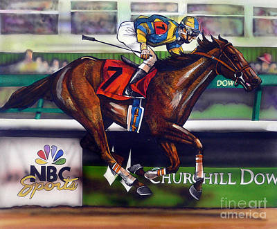 Horses Drawing - Kentucky Derby Winner Street Sense by Dave Olsen