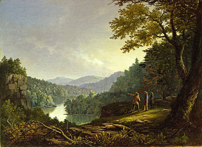 Barton Painting - Kentucky Landscape. 1832 by James Pierce Barton
