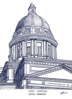 Capitol Building Mixed Media - Kentucky State Capitol by Frederic Kohli