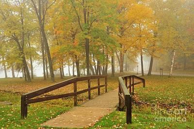 Fog Photograph - Kenwood Park In Cadillac Michigan by Terri Gostola