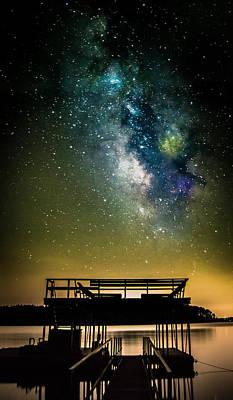 Lake Keowee Photograph - Keowee Milky Way by Chris Jones