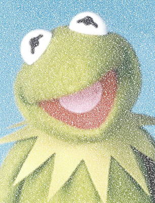 Muppets Painting - Kermit The Frog Quotes Mosaic by Paul Van Scott