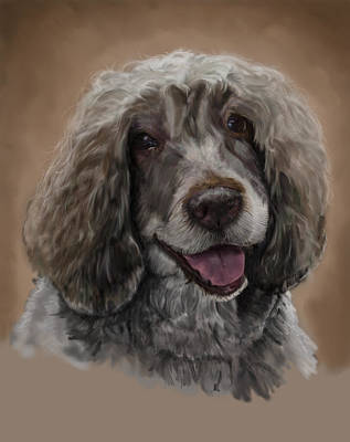 Breed Digital Art - Kerri The Portuguese Water Dog by Myke  Irving