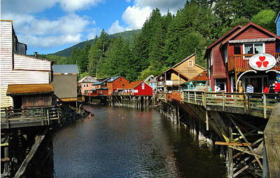 Ketchikan Creek Print by Michael Peychich