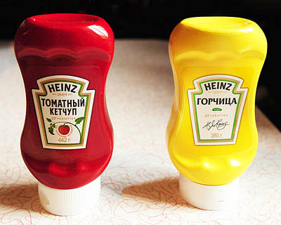 Que Photograph - Ketchup And Mustard   Russia by Dan Albright