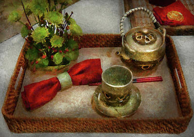 Kettle - Formal Tea Ceremony Print by Mike Savad