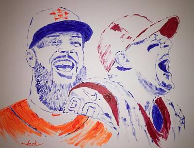 Houston Astros Painting - Keuchel And Watt by Jack Bunds