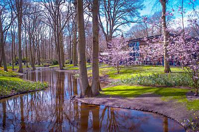 Keukenhof Reflections. Holland Print by Jenny Rainbow