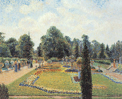 Kew Gardens The Path To The Great Conservatory Print by Camille Pissarro