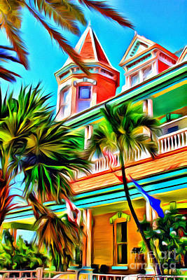 Bliss Photograph - Key West Home by Carey Chen