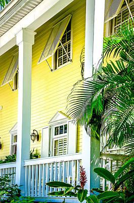 Key West Homes 15 Print by Julie Palencia