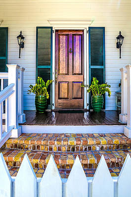 Key West Homes 16 Print by Julie Palencia