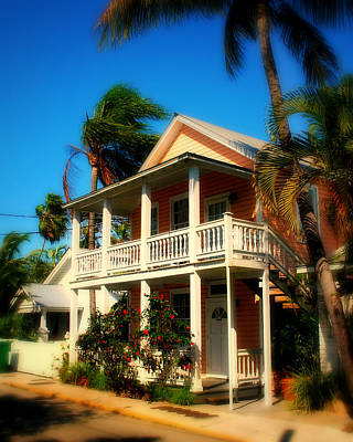 Sun Porch Photograph - Key West House by Perry Webster