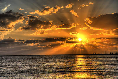 Conch Photograph - Key West Sunset by Shawn Everhart