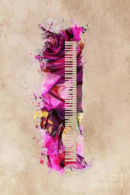 Music Digital Art - Keyboard by Justyna JBJart