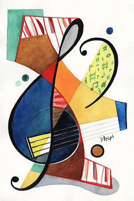 Abstract Painting - Keys And Clef by David Ralph