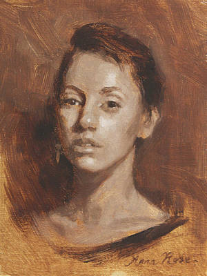 Sepia Painting - Kia In Monochrome Demo by Anna Rose Bain