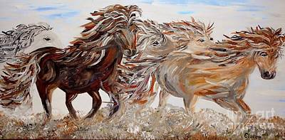 Beauty Painting - Kicking Up Dust by Eloise Schneider