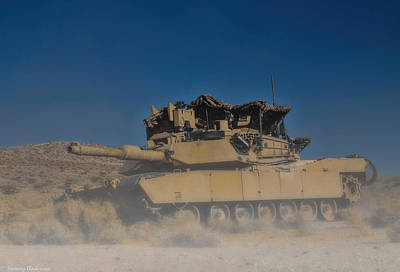 Photograph - Kicking Up Dust - M1a2 Abrams by Tommy Anderson