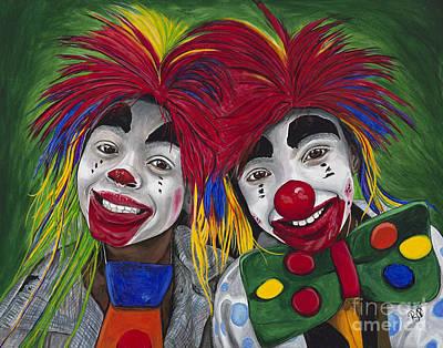 Klown Painting - Kid Clowns by Patty Vicknair