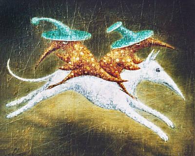 Birdman Painting - Kidnapping by Lolita Bronzini
