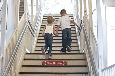 Kids Going Where They Shouldn't  Print by Neil Stern