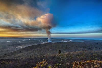 Pele Digital Art - Kilauea Caldera by Lynn Andrews