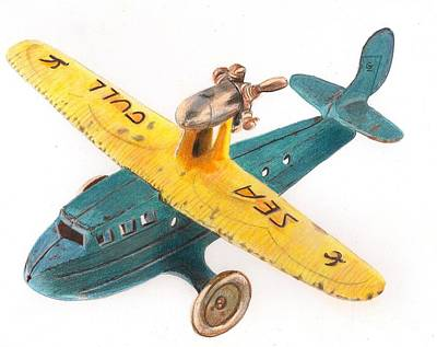 Kilgore Sea Gull Airplane Print by Glenda Zuckerman