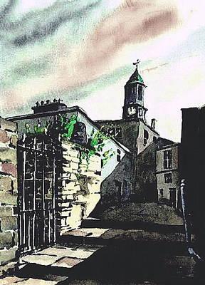 Kilkenny City  Clocktower Laneway  Print by Val Byrne