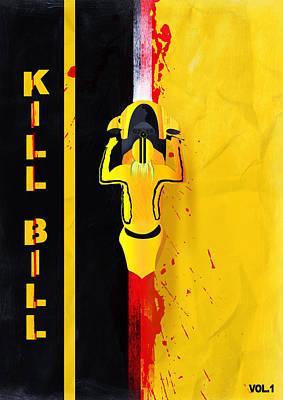 Kill Bill Minimalistic Alternative Movie Poster Print by Lautstarke Studio