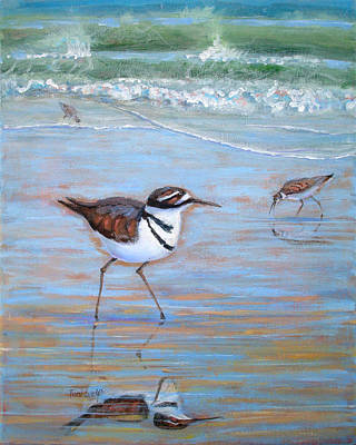 Killdeer Painting - Killdeer Trio by Toni Wolf