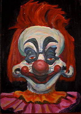 Klown Painting - Killer Klown by Sara Allison