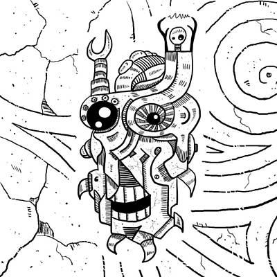 Killer Robot Print by Erki Schotter