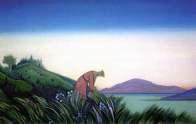 River Painting - Kind Grasses, Vasilisa Wise by Nicholas Roerich
