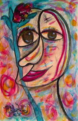Outsider Art Painting - Kind Lady by Natalie Holland