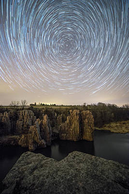 King And Queen Star Trails Print by Aaron J Groen