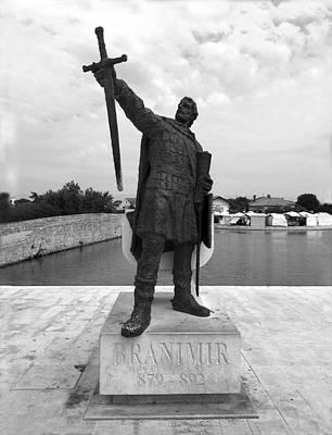King Branimir - Old Island Town Of Nin Waterfront View, Dalmatia, Croatia Print by Doc Braham