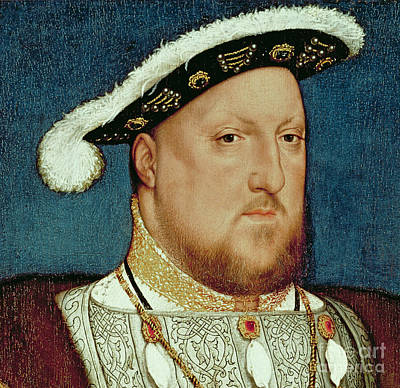 The Royal Family Painting - King Henry Viii by Hans Holbein the Younger