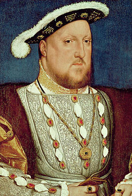 The Royal Family Painting - King Henry Viii  by Hans Holbein