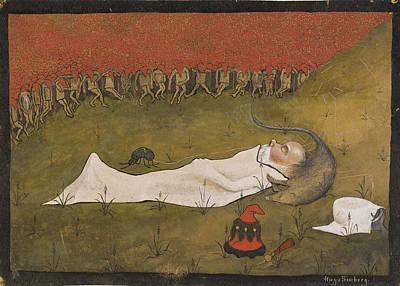 King Hobgoblin Sleeping Print by MotionAge DesignsHugo Simberg