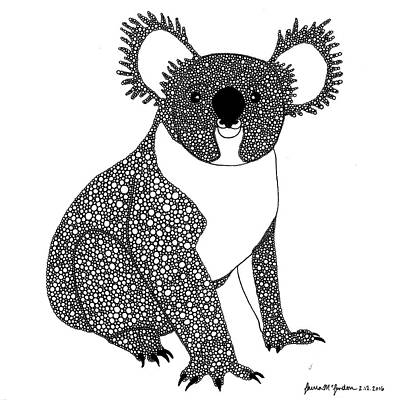 Marsupial Drawing - King Koala by Laura McLendon