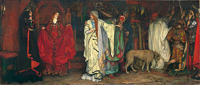 Edwin Austin Abbey Painting - King Lear. Act I Scene I by Edwin Austin Abbey