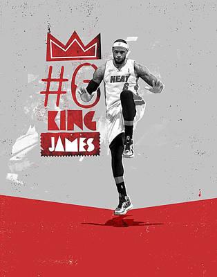 Lebron James Drawing - King Of Basketball by Jeric Barnutz