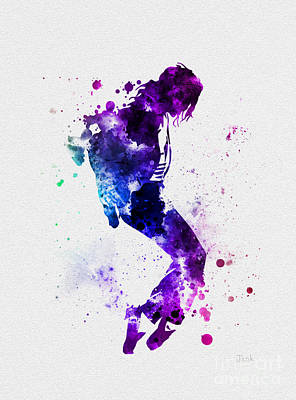 King Of Pop Print by Rebecca Jenkins