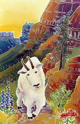 Mountain Goat Painting - King Of The High Peaks by Harriet Peck Taylor