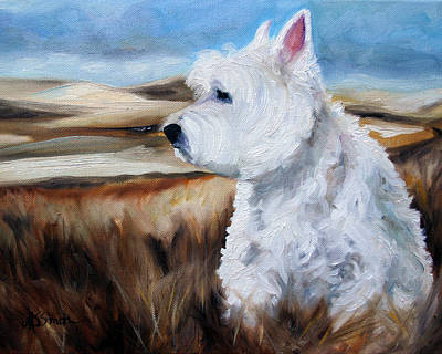 Canine Painting - King Of The Hill by Mary Sparrow