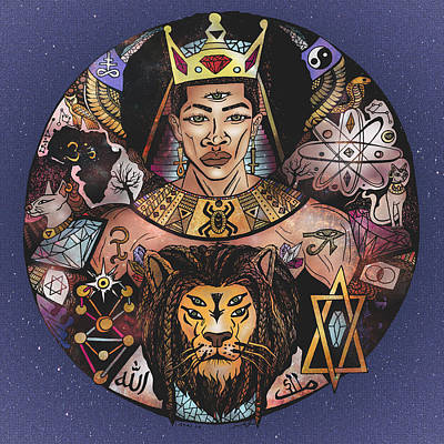 King Solomon And The Lion Of Judah Print by Kenal Louis
